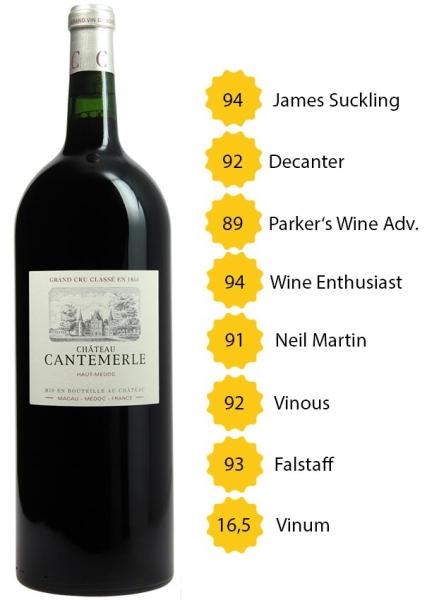 Magnum Château Cantemerle 2016 - 5e Grand Cru Classé