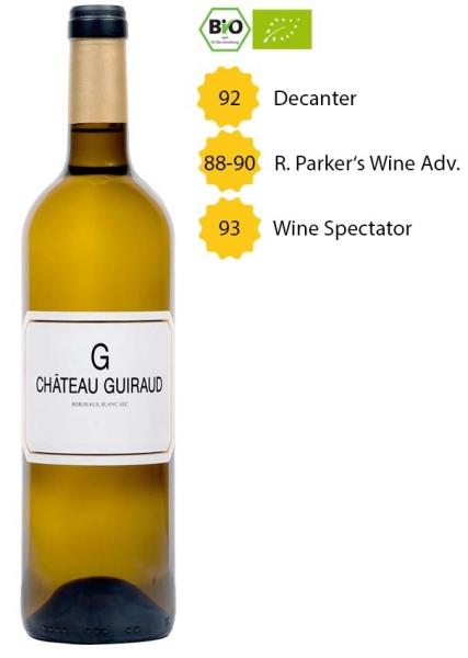 G de Château Guiraud 2018 - Bordeaux Blanc - BIO