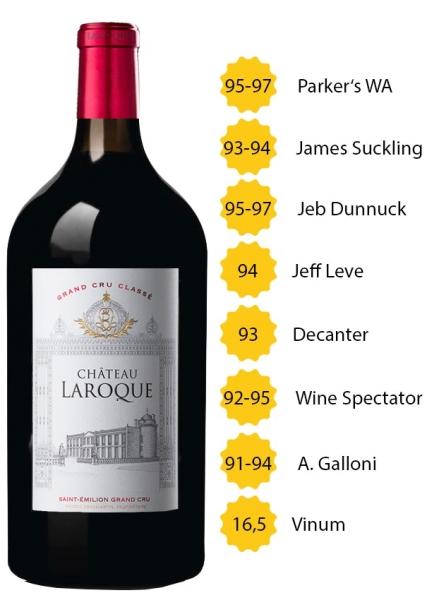 Doppelmagnum Château Laroque 2018 - Grand Cru Classé - St. Emilion