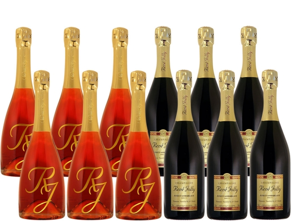 Rosé Champagner 12er-Paket