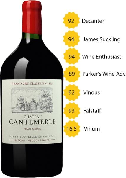 Doppelmagnum 2016 Château Cantemerle - 5e Grand Cru Classé