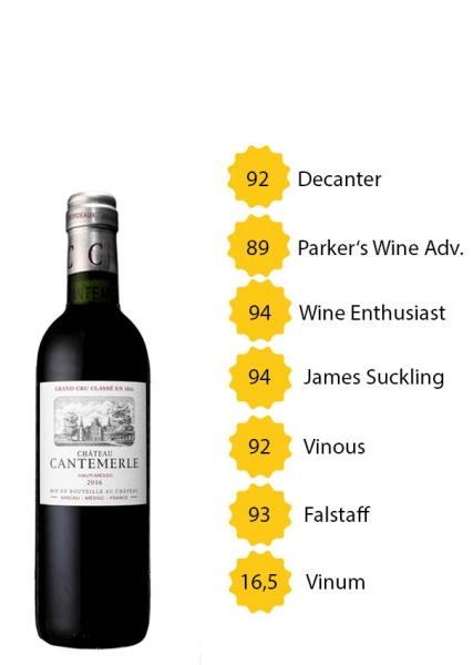 Château Cantemerle 2016 - 5e Grand Cru Classé - Halbe Flasche