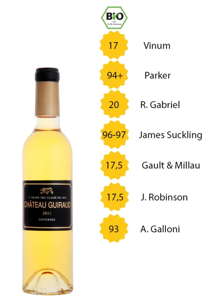 Château Guiraud 2015 - Sauternes (Edelsüß) - 1. Grand Cru Classé