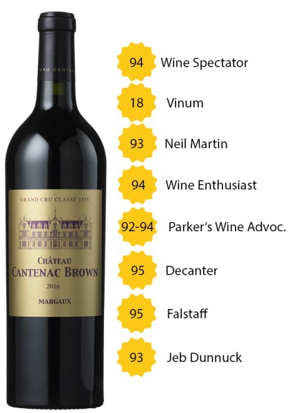 Château Cantenac Brown 2016 - 3. Grand Cru Classé - Margaux