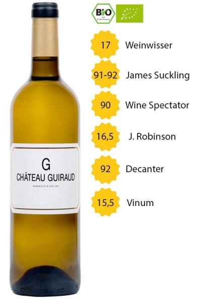 G de Château Guiraud 2017 - Bordeaux Blanc - BIO