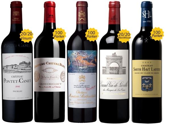 100 Punkte Bordeaux Paket
