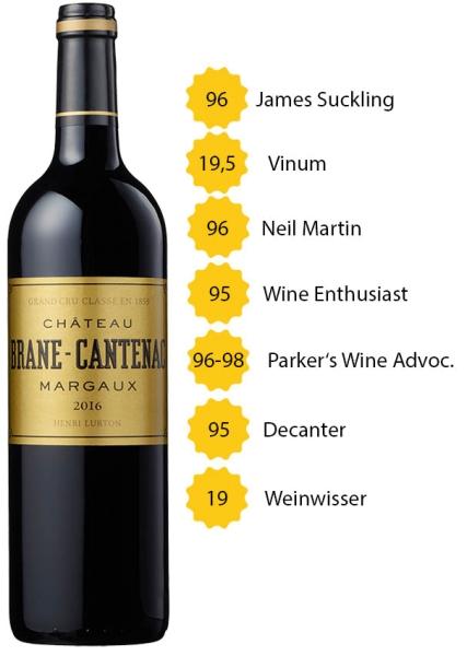 Château Brane Cantenac 2016 - 2. Grand Cru Classé - Margaux