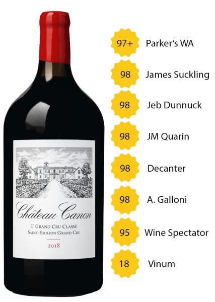 Château Canon 2018 (3l) - 1. Grand Cru Classé