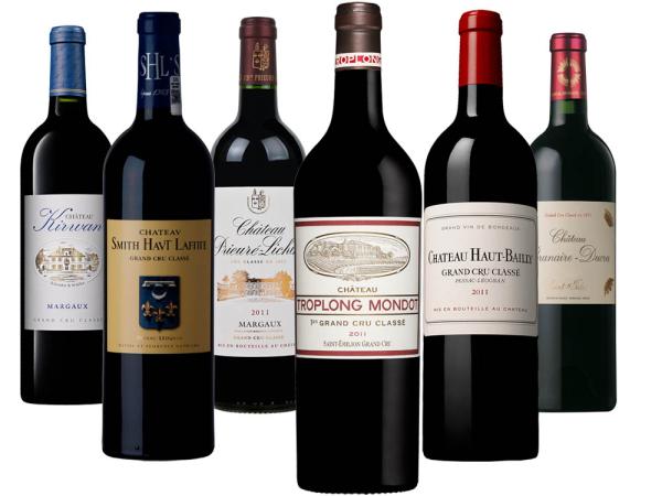 Bordeaux 2011 6er-Probierpaket
