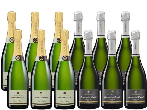 12er Probierpaket Pinot Meunier Champagner