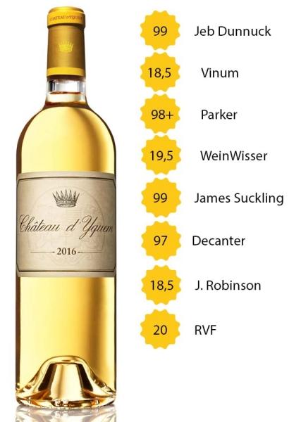 Château d'Yquem 2016 - Sauternes (Edelsüß) - 1. Grand Cru Classé - 0,75l