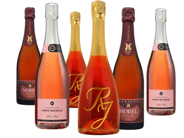 Rosé Champagner 6er-Paket