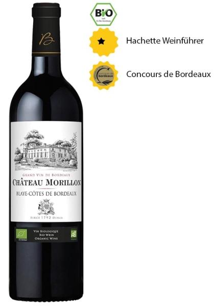 Château Morillon 2017 - Blayes Côtes de Bordeaux - BIO