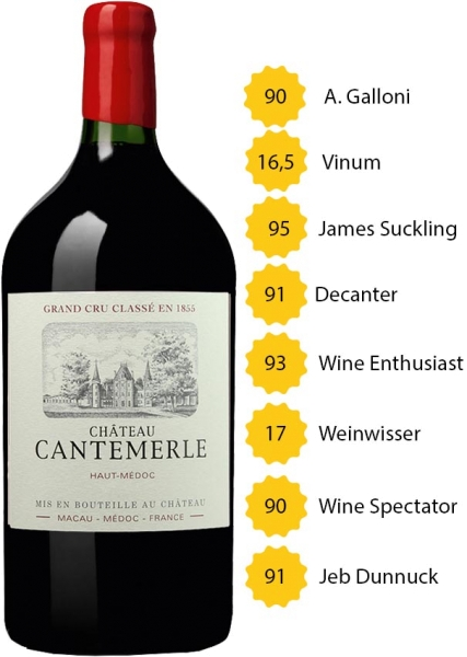 Doppelmagnum 2015 Château Cantemerle - 5e Grand Cru Classé - Haut-Médoc